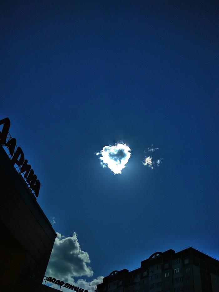 Небо любит меня Фотография, Облака, Сердце, Небо