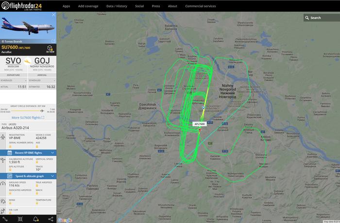 Погода не очень Нижний Новгород, Самолет, Погода, Flightradar24