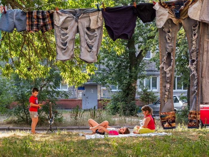 А у нас во дворе... дети, двор, хрущовка, лето