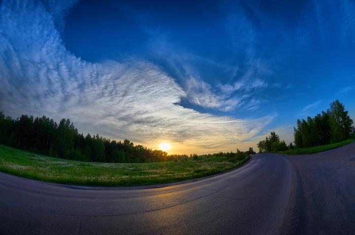 Июньский вечер в Сибири Сибирь, Природа, Закат, HDR, Лето, Длиннопост, Прокопьевск