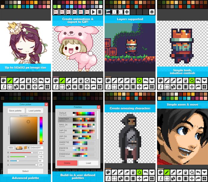 Pixel Studio - новый редактор для пиксель-арта Pixel art, editor, пиксель, indie, android, Free