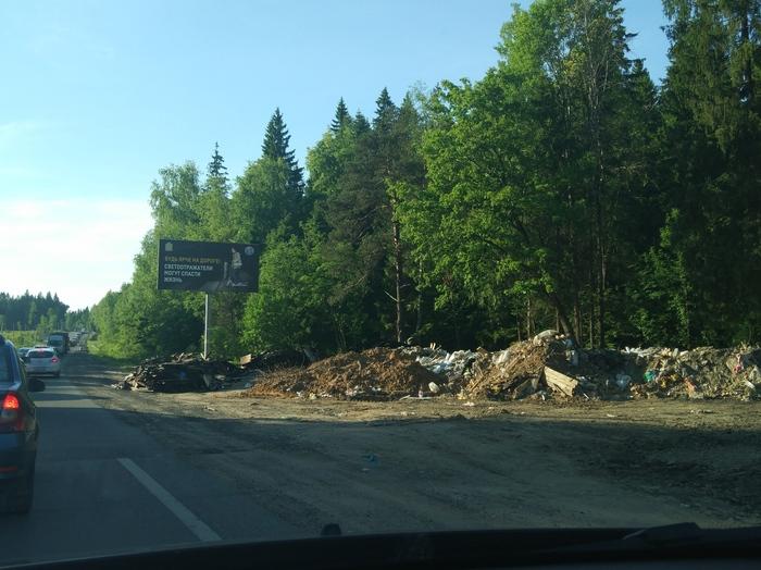 Помойка растет Пятницкое шоссе, Мусор, Уроды, Природа, Длиннопост