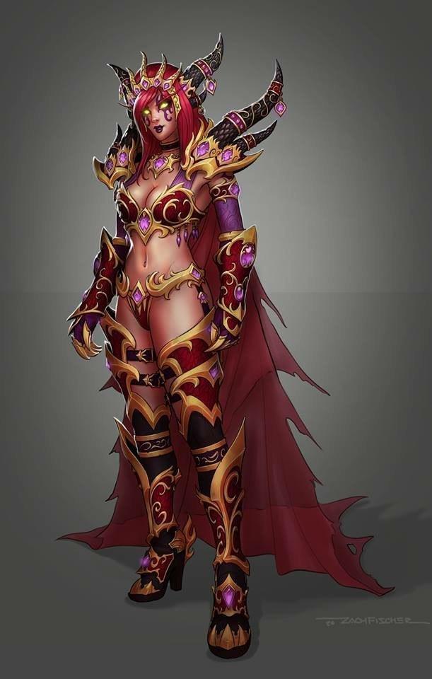 Костюм Алекстразы (Арт + Ориджинал) Blizzard, Tutor, Crafttutorial, Алекстраза, World of Warcraft, Warcraft, Длиннопост