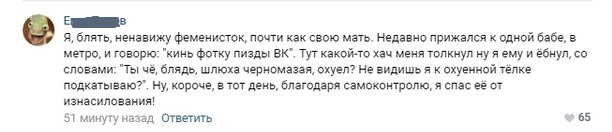 История в комментариях Комментарии, Феминизм, Скриншот, Мат