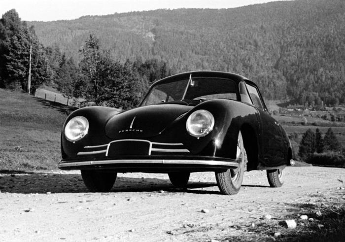 Porsche 356/2 Gmnd Coupe '1948–51 Porsche, Старое фото, Авто
