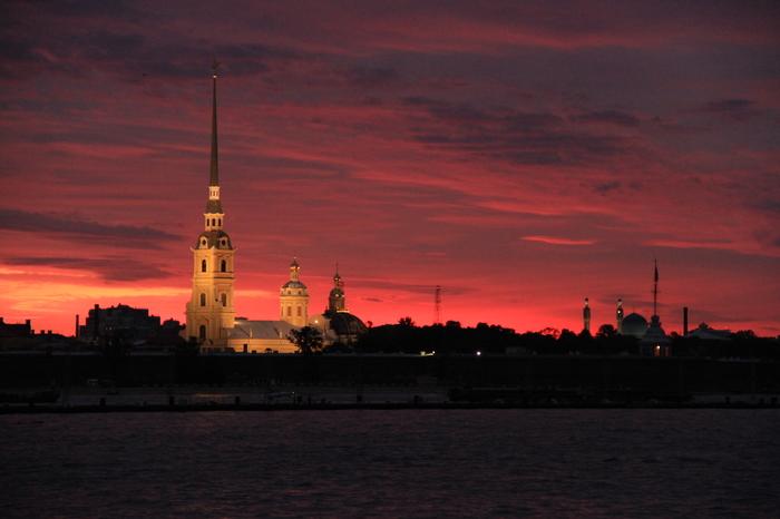 Рассвет в Питере Санкт-Петербург, Рассвет, Петропавловская крепость, Фотография