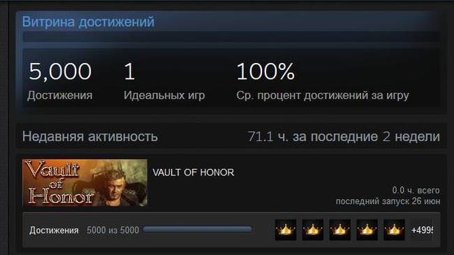 VAULT OF HONOR Халява, Steam, Gleam