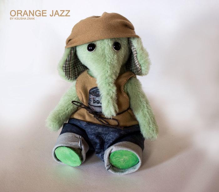 Слоник Боб Мягкая игрушка, Ручная работа, Рукоделие без процесса, Тедди, Зеленый слоник, Слоненок