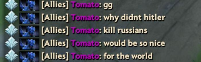 """Профессиональный игрок Team Liquid: """"Почему Гитлер не убил русских, было бы так хорошо без них"""" Teamliquid, Dota 2, Дота 2"""