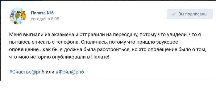 Студентка-палатовчанка Вконтакте, Универ, Тупость, Позитив, Палата, Экзамен