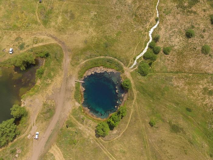 Голубое озеро в Самарской области Dji, Phantom 3 se, Самара, Самарская область, Квадрокоптер, Сверху, Длиннопост, Видео, Fpv