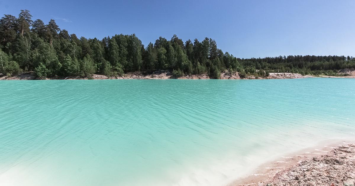 Голубое озеро на урале фото