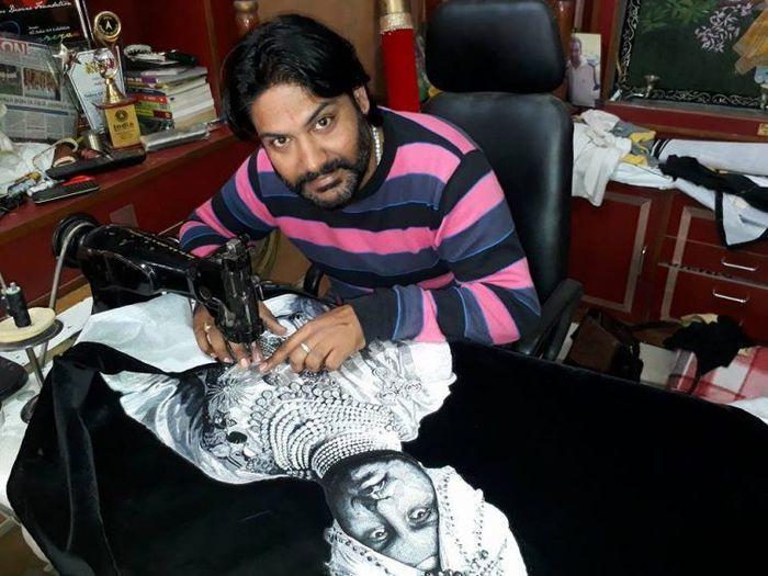 Художник вышивает потрясающие картины с помощью швейной машины Длиннопост, Прикол, Необычное, Индия, Фотография, Фейк