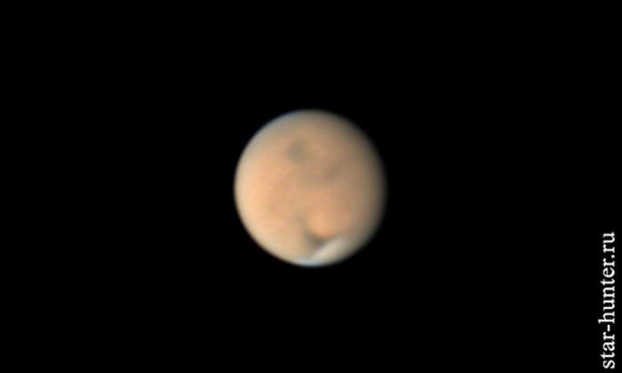 Марс, 29 июня 2018 года, 01:04 Марс, астрофото, астрономия, космос, планета, StarHunter, АнапаДвор