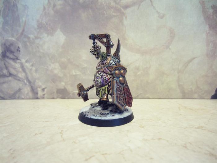 Обмаз в стиле гримдарк продолжается Warhammer: Age of Sigmar, Хаос, Нургл, Вонючка, Покраска миниатюр, Длиннопост