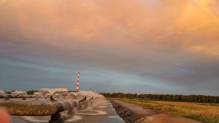 ТЭЦ-5 Озеро, Фонтан, Природа, Беларусь, Длиннопост