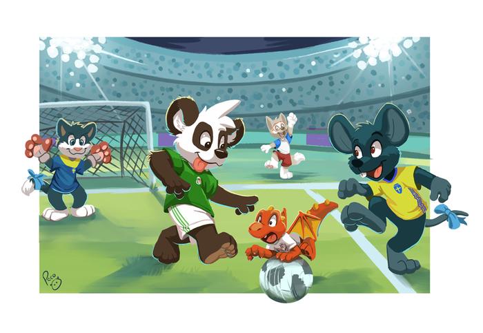 ЧМ-2018: Группа F Pandapaco, Фурри, Арт, Чемпионат мира по футболу 2018, Забивака, Футбол, Спорт, Игры