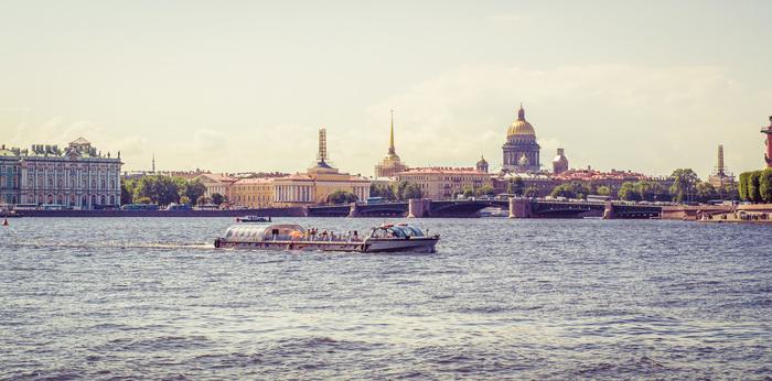 Нева Фотография, Нева, Санкт-Петербург, Вода, Лето, Катер, Река