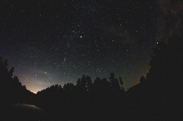 В продолжение поста об НЛО нарисовал траекторию НЛО, Я водитель НЛО, Звёзды, Небо, Бийск, Гифка