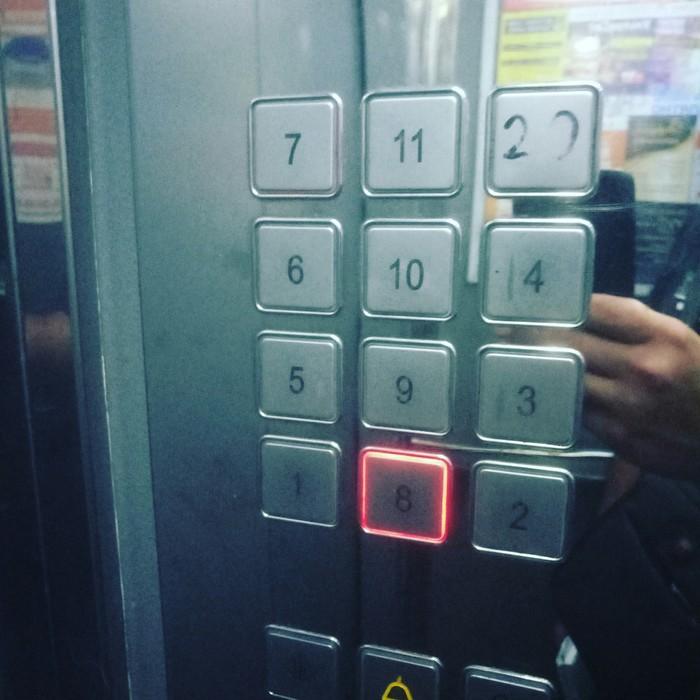 Лифт Лифт, Юмор, Прикол, Кнопка, Сломал, Мозг, Фотография