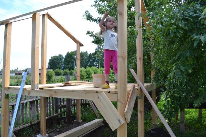 Домик для дочерей Строительство, Все детям, Детский домик, Длиннопост
