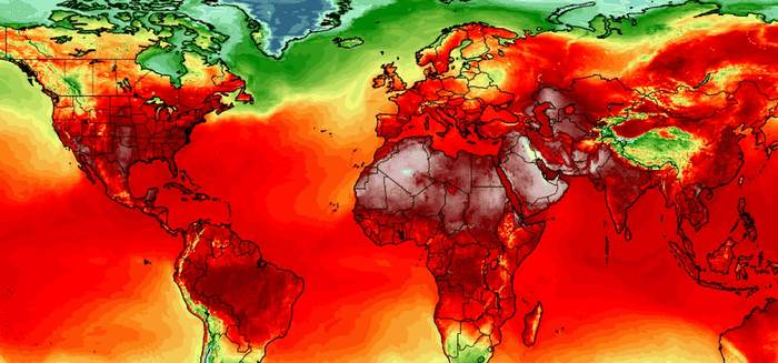 Раскаленная планета: серия температурных рекордов была установлена по всему миру за последнюю неделю Температура, жара, глобальное потепление, длиннопост
