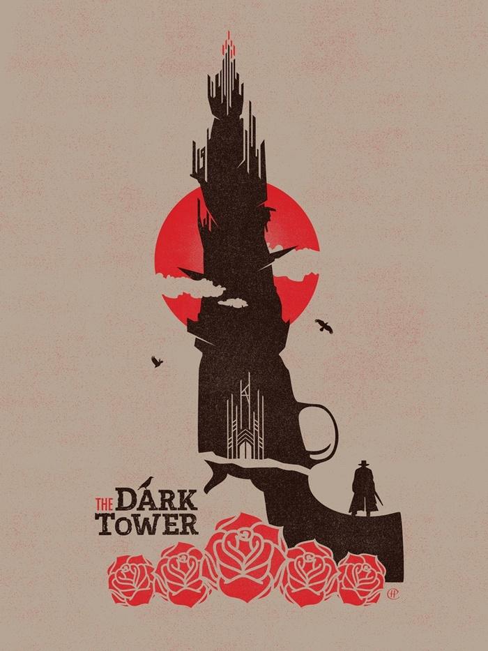 Помогите найти автора Темная башня, Рисунок, Подскажите автора, Хорошее качество, Zippo, Стивен Кинг