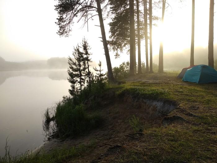 Восход на Черном озере, Пермский край