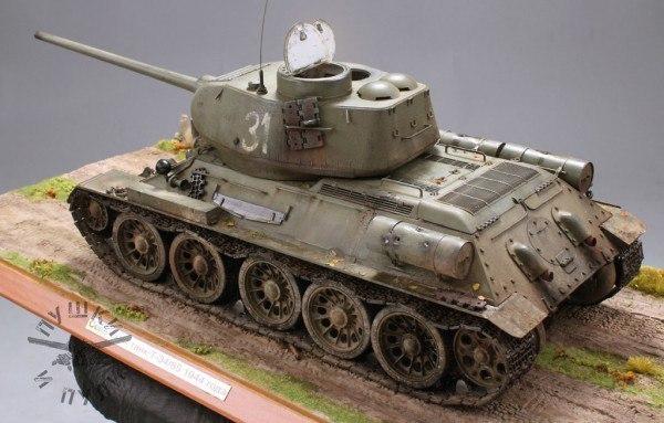 Т-34-85. Танк-Победиель Моделизм, стендовый моделизм, Великая Отечественная война, длиннопост