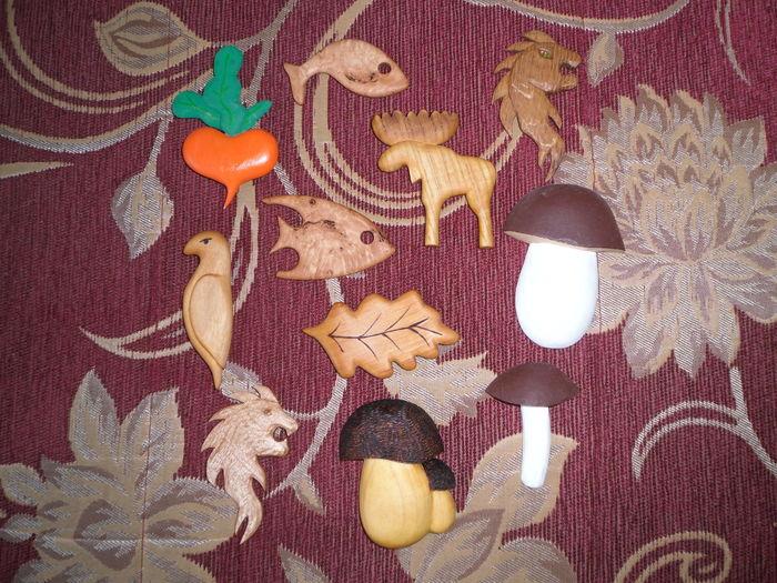 Мои магнитики на холодильник из дерева магнитики на холодильник, своими руками, рукоделие без процесса, дерево, handmade, длиннопост