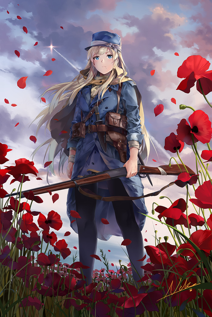 Soldier Anime Art, Аниме, Игры, Battlefield 1