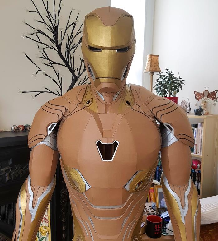 Детализированный костюм Железного человека из картона Фотография, Железный человек, Костюм, Картон, Handmade, Reddit, Длиннопост