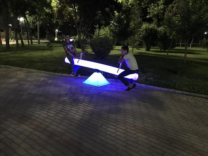 Элементы ночного Ташкента Ночной город, Ташкент, Ночное освещение, Урбанистика, Фотография, Узбекистан, Длиннопост