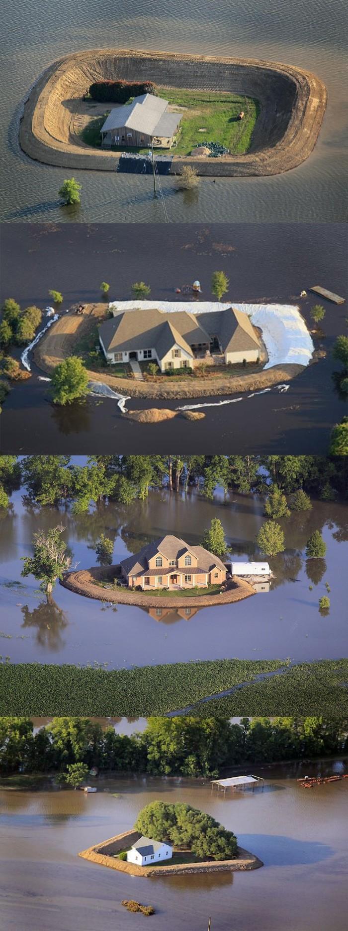 Самодельные дамбы во время наводнения Дамба, Наводнение, Фотография, Длиннопост