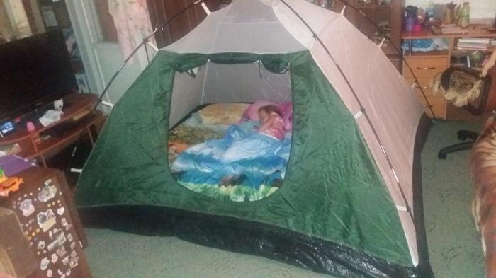 Когда пообещал ребёнку поход с ночёвкой. Поход, Палатка, Отдых, Все правильно сделал, Мужик сказал - мужик сделал, Обещание, Обещание выполнено