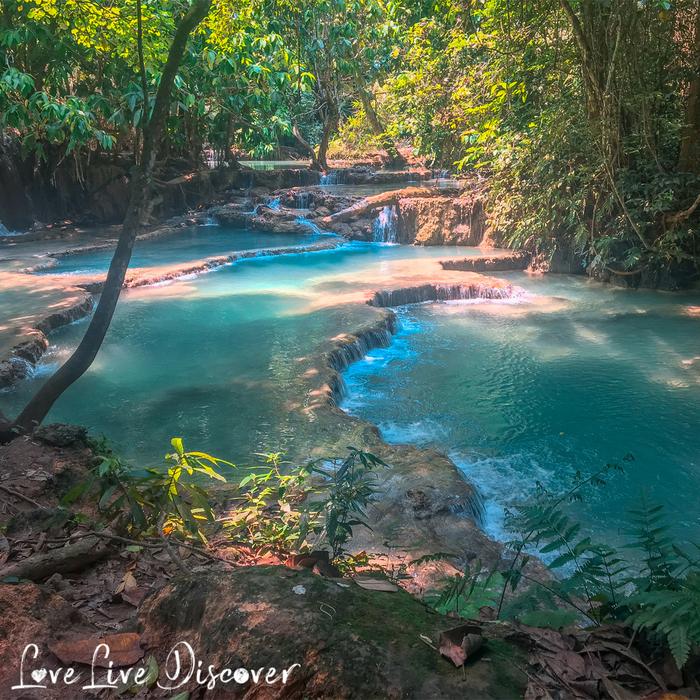 Водопад Kuang Si в Лаосе
