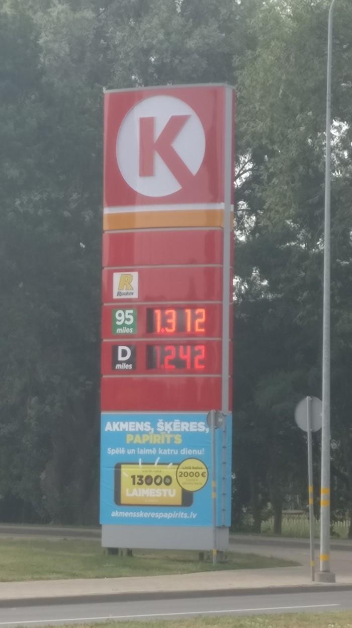 Цены на бензин в Латвии Цена на бензин, Латвия