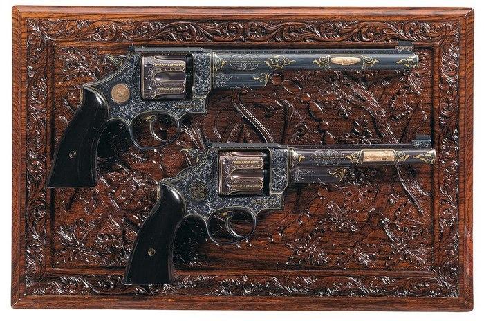 Пара Смит-Вессонов Оружие, Смит и Вессон, Револьвер, длиннопост