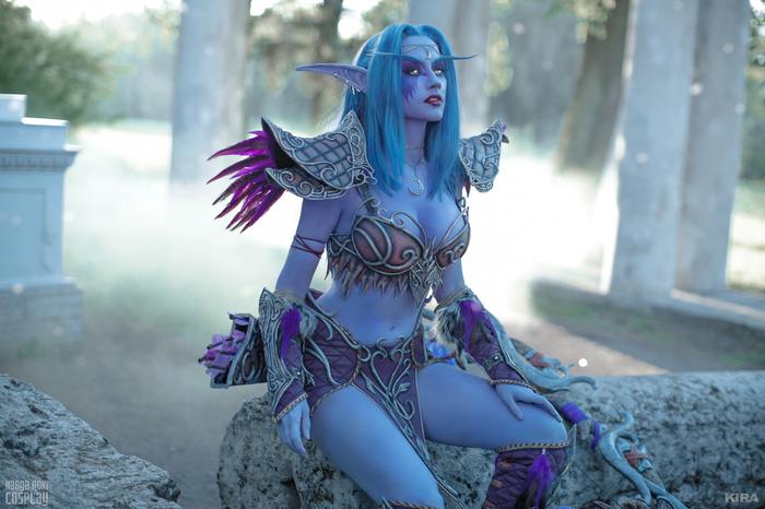 Tyrande - by -Narga-Lifestream Косплей, Игры, Blizzard, World of Warcraft, Tyrande, Девушки, Narga-Lifestream, KIRA, Длиннопост