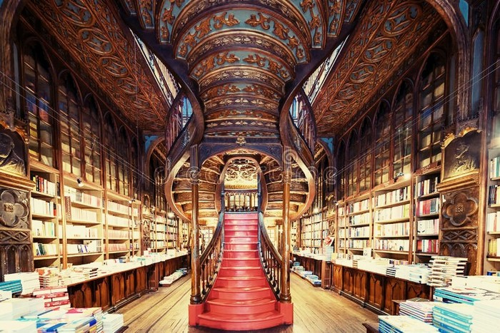 Книжный магазин Livraria Lello, Порту. Магазин, Книги, Джоан Роулинг, Гарри Поттер, Архитектура, Декор, Красота, Дизайн, Длиннопост