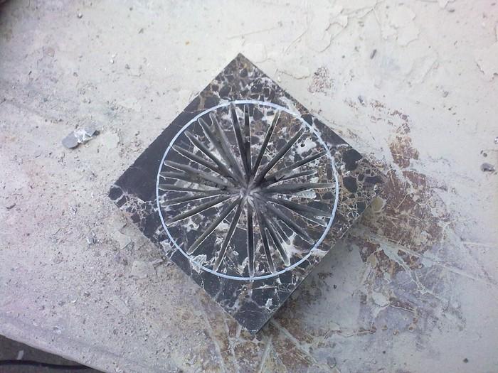 Моя первая работа из камня Мрамор, Пепельница, Моя первая работа, Резьба по камню, Длиннопост