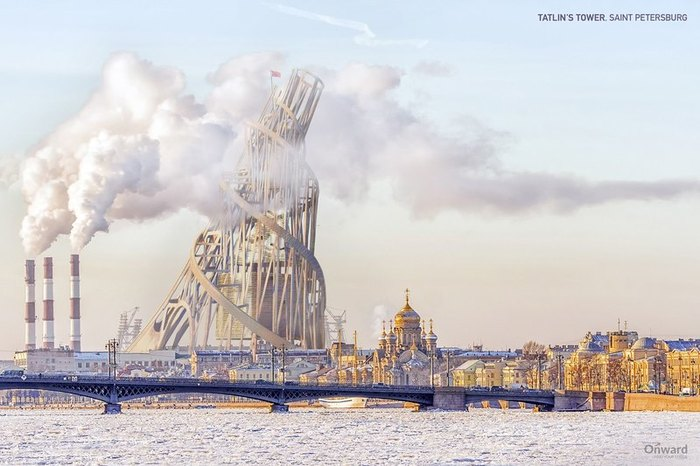 Художники из NeoMam Studios изобразили на детализированных картинах колоссальные постройки, которые в реальном мире так и не были возведены. Проект, Архитектура, Рендер, Идея, Технологии, Картинки, Длиннопост