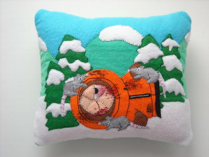Подушки - аппликушки Подушка, South Park, Рукоделие с процессом, Длиннопост