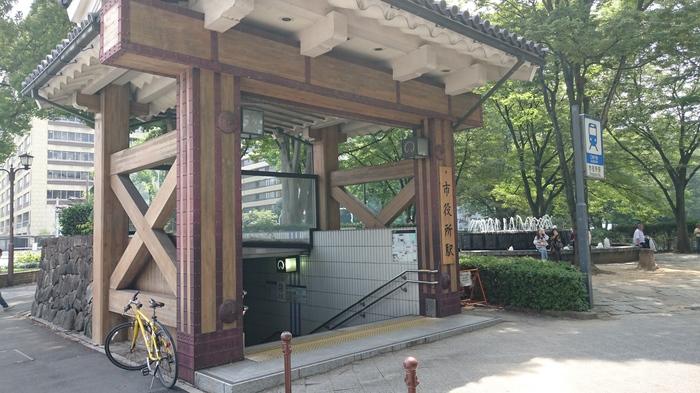 Станция метро Нагоя, Япония. Япония, Метро, Нагоя, Станция, Замок