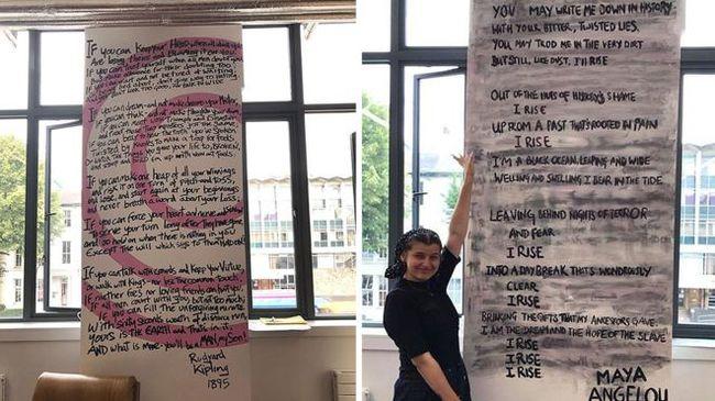 """Активистки Университета Манчестера закрасили легендарное стихотворение """"расиста"""" Киплинга на стене студенческого союза Великобритания, Новости, Мнение, Редьярд Киплинг, Стихи, Активисты, Толерантность, Вандализм"""