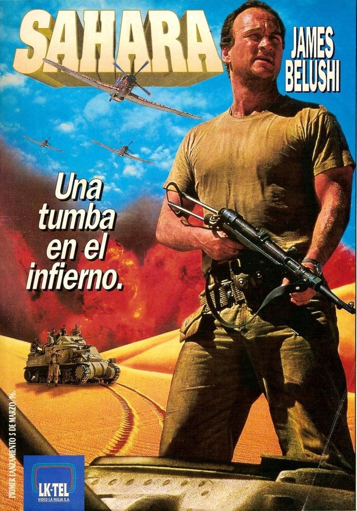 Советую посмотреть фильм Сахара (Sahara, 1995) с Джеймсом Белуши. Джеймс Белуши, Сахара, Вторая мировая война, Война, VHS, Длиннопост
