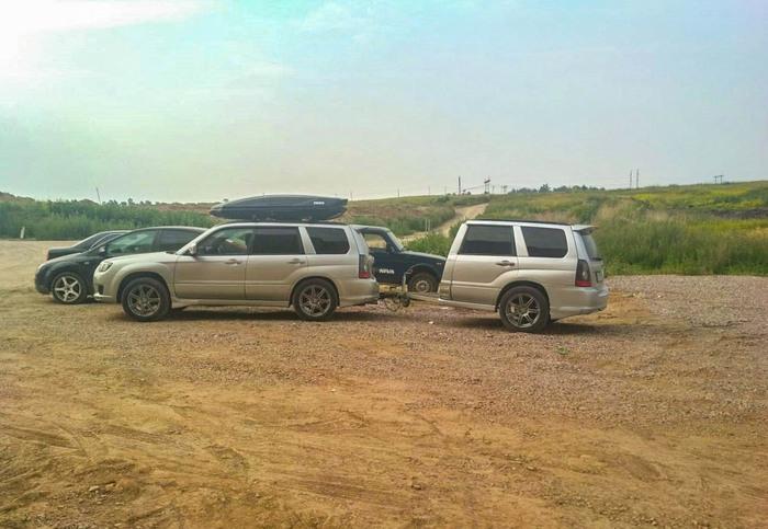 Полтора субаря Subaru, Машина, Отдых, Ручная работа, Фаркоп, Якутия