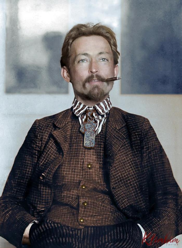 Железный Феликс в цвете Колоризация, Дзержинский, Старое фото