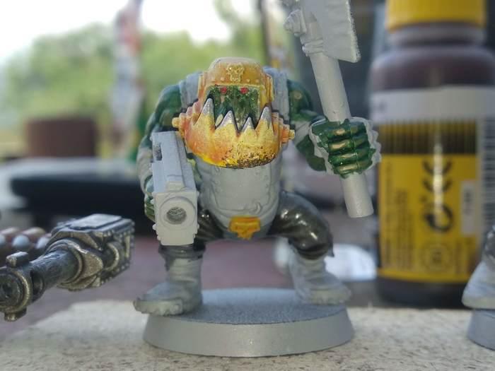 Баивыи грыбы Warhammer 40k, Стендовый моделизм, Миниатюра, Покраска миниатюр, Длиннопост