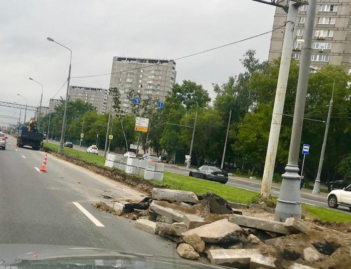 Бордюрный камень Бордюр или поребрик, Бордюр, Ремонт, Москва, Ярославка, Длиннопост